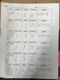 Place Value Tens and Ones Matching