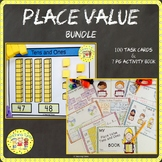 Place Value Tens and Ones Activity Book and Task Cards