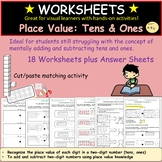 Place Value: Tens and Ones  Addition and Subtraction 2-digit numbers- Worksheets
