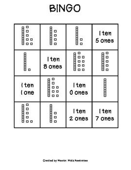 Place Value Tens and Ones BINGO