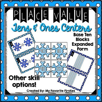 Place Value Tens and Ones Center {Winter Edition}