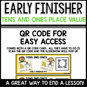 Place Value Tens and Ones |  Early Finisher