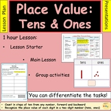 Place Value Tens and Ones Lesson Plan Presentation Activities