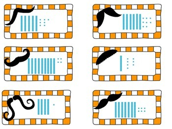 Place Value Tens and Ones Mustache Activity