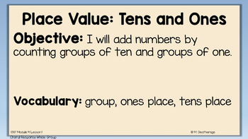 ENY Place Value Tens and Ones ppt Module 4 Lesson 1