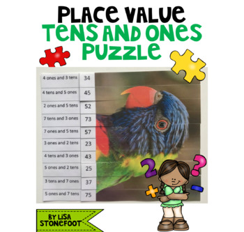 Place Value: Tens and Ones Puzzles (Bird Theme) BUNDLE