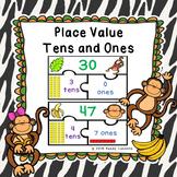 1st Grade Place Values Game Puzzles 2 Digit Places Value Tens and Ones 1.NBT.2