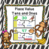 1st Grade Place Values Game Puzzles 2 Digit Places Value Tens and Ones 1.NBT.2