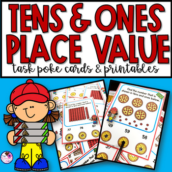 Place Value Tens and Ones Task Cards and Worksheets