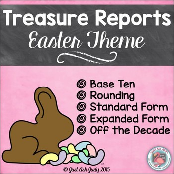 Place Value Activity Tens and Ones Easter Treasure Reports