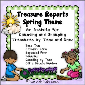 Place Value Activity Tens and Ones Spring Treasure Reports