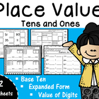 Place Value - Tens and Ones to 99 Base Ten {32 worksheets}