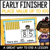 Place Value Practice (Tens and Ones up to 100) Early Finisher PPT