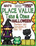 Place Value Tens n Ones Halloween MAFS Envision Mat n Work