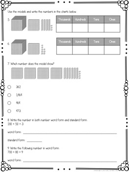 2nd Grade Place Value Test