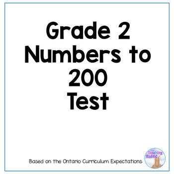 Place Value Test - Grade 2 (Ontario Curriculum)