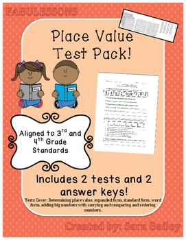 Place Value Test Pack