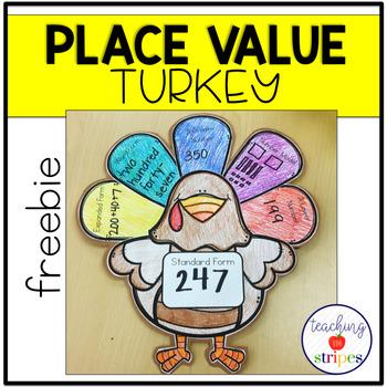 Place Value Thanksgiving Turkey Craftivity- Free!