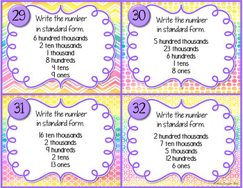 Place Value Task Cards and Differentiated Puzzles Bundle
