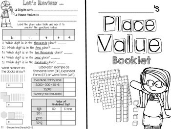 Place Value Theme Booklet {Mastering Place Value}