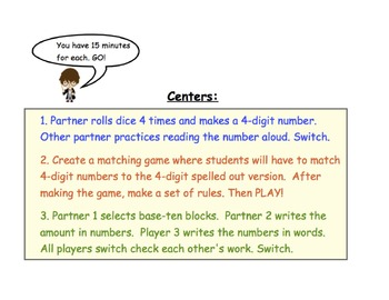 Place Value Third Grade Math in Focus Workshop Model and Centers