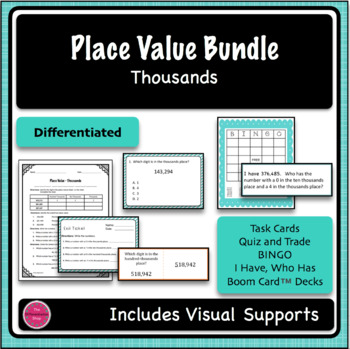 Place Value 4 Game Bundle - Thousands Period