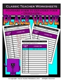 Place Value-Thousands-Standard to Expanded Form-Grades 3-4 (3rd-4th Grade)