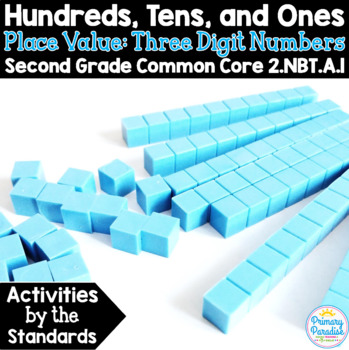 Place Value Three Digit Numbers: 2.NBT.A.1 Common Core Math