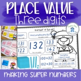 Place Value Three Digits Learning Centers