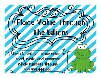 Place Value Through Billions Game