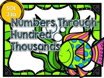 Place Value Through Hundred Thousands-4 Sets of Task Cards