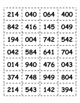 Place Value Tic Tac Toe - 6 Digit Numbers