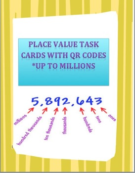 Place Value To Millions Task Cards