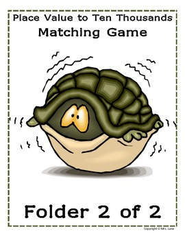 Place Value To Ten Thousands Matching Game (Great Center or Workstation!)