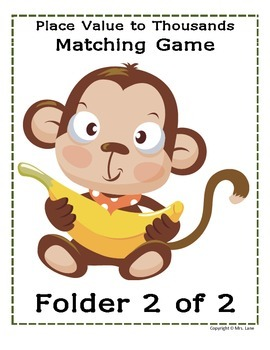 Place Value To Thousands Matching Game (Great Center or Workstation!)