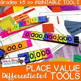 Place Value Tools for Guided Math {Differentiated Place Va