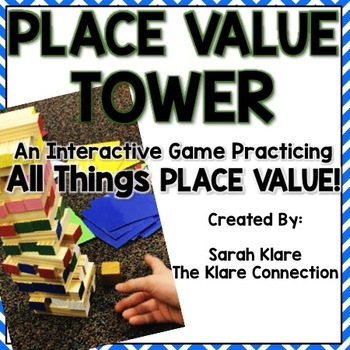 Place Value Tower! A Place Value to 1,000 Review Game!