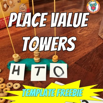 Place Value Towers FREEBIE Template (Draw it, Write it)