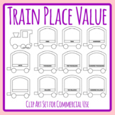 Place Value Train - Build Your Own Transport Themed Numbers Template Clip Art