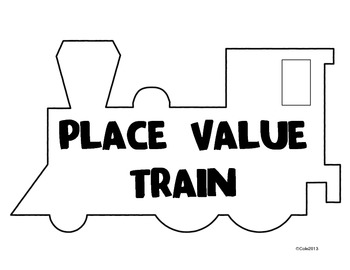 Place Value Train Classroom Posters and Activity (Billions