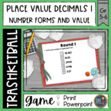 Decimals Place Value 1 Trashketball Math Game