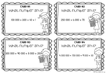 Place Value Treasure Hunt Scoot