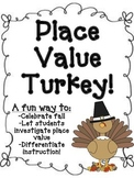 Place Value Thanksgiving Turkey