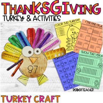 Turkey Craft and Activities (Thanksgiving)