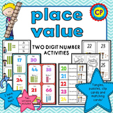 Place Value - Two Digit Number Activities and Math Centers