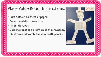 Place Value Two Digit Number Robots ACARA C2C CCSS