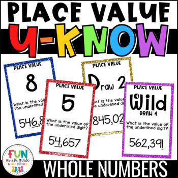 Place Value Game for Math Centers or Stations {Whole Numbers ONLY}