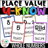 Place Value Game for Math Centers or Stations: U-Know {Whole Numbers ONLY}