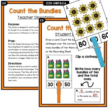 First Grade Place Value Unit | Common Core Aligned & Differentiated