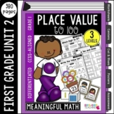 First Grade Place Value: Unit 2 | Common Core Aligned & Differentiated